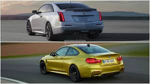 cadillac ats vs bmw photo comparison bmw m4 vs cadillac ats v coupe autoevolution