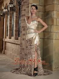 champagne column sweetheart court train prom dress elastic wove