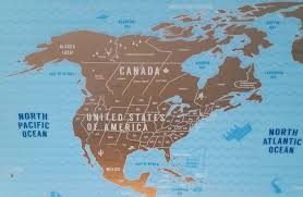 Map Canada And Usa by A Scratch Map Maker U0027s Numerous Misspellings And Omissions Within