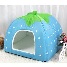 Cat Bed Pattern Pawstrip 5 Size Cute Strawberry Dog Bed House Winter Cat Bed