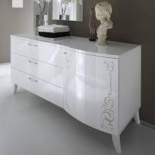 commode contemporaine chambre coucher dorees blanc blanche en fly commode des une gravures model