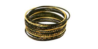 bracelet gold black images Krisklank indian bangles set green gold jpg