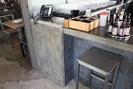 concrete top bar table concrete tables concrete gray restaurant bar top