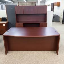 office desk with credenza used ofd executive office desk credenza with hutch set mahogany