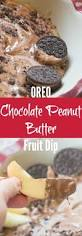 oreo chocolate peanut butter fruit dip
