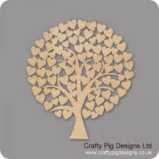 wedding tree guest book 3mm mdf rounded wedding heart tree guest book 50cm x 50cm