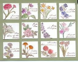 flower of the month flowers of the month index by galleryindex cards and paper