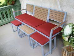 Small Space Patio Sets by Modway Furniture Modern Marina 3 Piece Outdoor Patio Teak Sofa Set