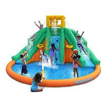 Backyard Water Slide Inflatable by Amazon Com Magic Time Twin Peaks Kids Inflatable Splash Pool