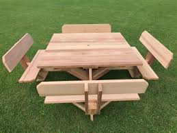 square picnic tables with benches 8 person patio table sets