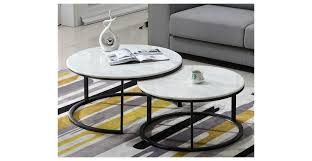 Elite Coffee Tables Coffee Table Elite Marble Nest Coffee Table Set Of Two Home