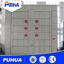 sand blasting room paint machine sterile containment booth for