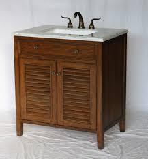 32 inch bathroom vanity coastal cottage beach vintage style walnut