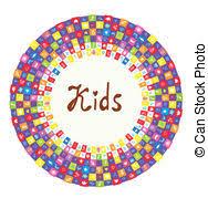 cornice per bambini cornice bambini giocattoli vettore di clipart cerca