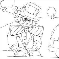 funny clown coloring