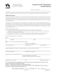 Authorization Letter For Bank Deposit Format free usaa direct deposit authorization form pdf eforms free