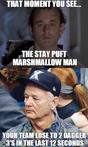 Stay Puft Marshmallow Man Meme - image tagged in bill murray wisconsin ncaa basketball imgflip