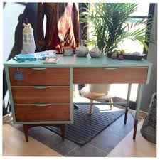 styling the wood and patina mid century desk oak and olive home