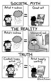 Artist Meme - societal myth artist sadness great art the reality artist t