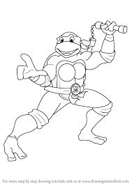 learn how to draw michelangelo from teenage mutant ninja turtles