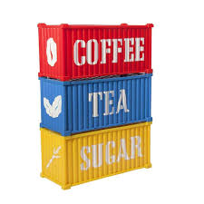 retro canister sets nesting set retro bright coloured tea coffee