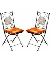 Metal Folding Bistro Chairs 28 Metal Foldable Bistro Chair Mosaic Set