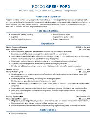 Best Resume For Quality Assurance by Professional Equipment Operator Templates To Showcase Your Talent