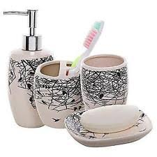 bathroom accessory sets in color beige ebay