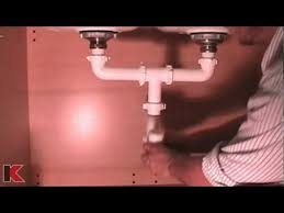 single sink to double sink plumbing double bowl sink drainage installation youtube
