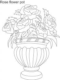 coloring pages of roses and flowers sketches of flower with pots download coloring pages flower pot