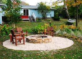 Installing Pea Gravel Patio Outdoor Patio Pea Gravel Fire Pit Ideas Home Fireplaces Firepits