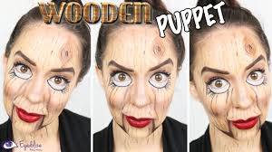 wooden puppet halloween makeup tutorial by eyedolizemakeup youtube