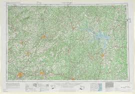 Salem Virginia Map by Greensboro Topographic Maps Nc Va Usgs Topo Quad 36078a1 At 1