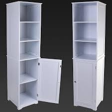 marko bathroom tallboy storage cabinet white wooden cupboard