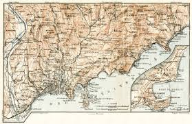 monte carlo map map of menton and vicinities with monaco and monte carlo