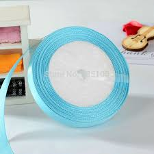 cheap ribbons sky blue 1 2 12mm single satin ribbons top quality cheap