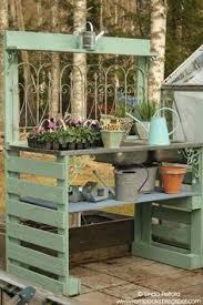 Garden Potting Bench Ideas Pallet Potting Table Rustic Farmhouse Potting Tables Rustic