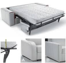 canapé lit matelas canapé lit rapido en cuir avec matelas 18 cm verysofa renoir