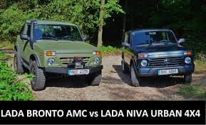 lada jeep 2016 lada bronto amc vs lada niva urban 4x4 amc trucks and pick ups