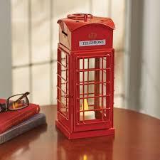 british telephone booth tea light candle holder lantern walmart com