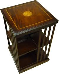 yew and mahogany reproduction revolving bookcase available in yew