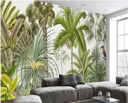 online get cheap palm leaf wallpaper aliexpress com alibaba group