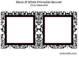 free printable candy buffet labels black u0026 white damask