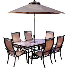 outdoor table umbrella and stand monroe 7 piece dining set with umbrella umbrella stand products