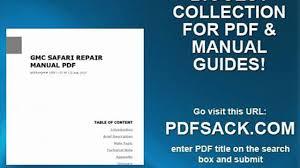 gmc safari repair manual pdf video dailymotion