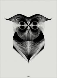 animals drawn with moiré patterns colossal