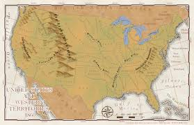 Physical Map Of United States by United States Of America U2013 1860 U0026 2010 Josh Jones U0027 Geographic