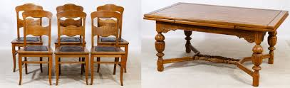 lot 101 oak refractory dining table and chairs rectangular table