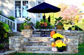 Fall Patio Pinecone Centerpieces Outdoor Fall Decorating Pumpkin Ideas Fall