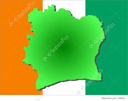 Ivory Coast Map Map Of Ivory Coast Illustration